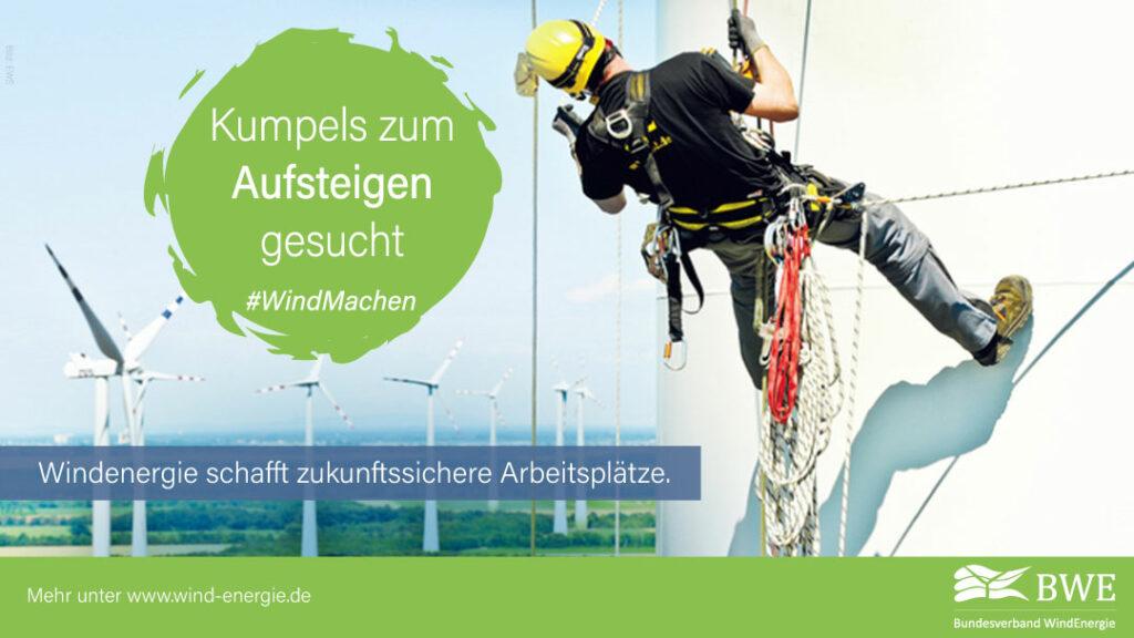 BWE Windkraft schafft Arbeitsplätze