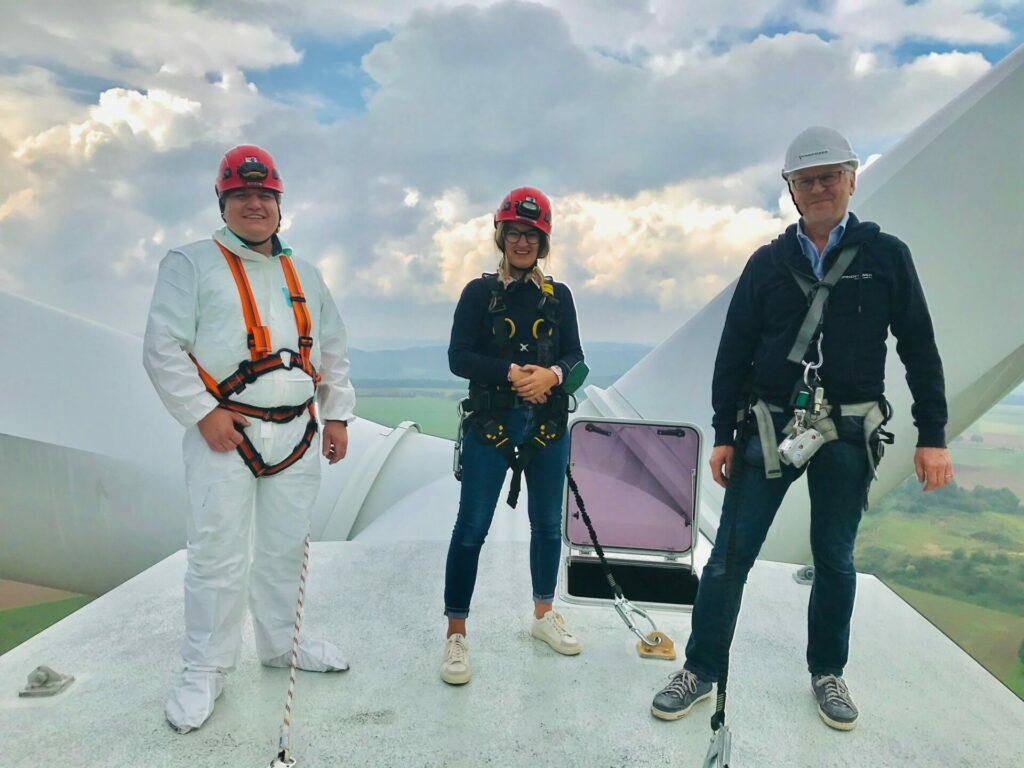 Stefan Schmidt besucht Wind- und Solarpark in Pilsach