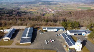 Solarkraftwerk am Flugplatz Burg Feuerstein