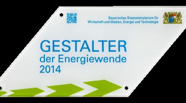 Auszeichnung: Gestalter der Energiewende 2014