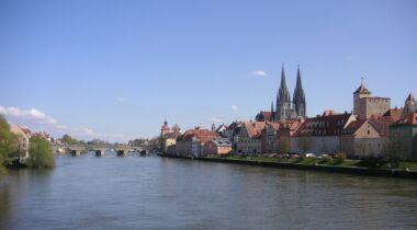 Die Stadt Regensburg an der Donau